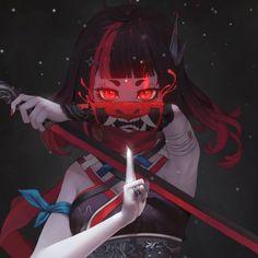 Cute Cartoon Images, Cute Cartoon Girl, Anime Girl Cute, Anime Girls, Oni Tattoo, Samurai Tattoo, Tattoos, Anime Oc, Anime Chibi