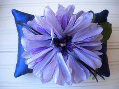 Purple Pom Pom Ring Bearer Pillow by DaniCalve on Etsy, $22.00