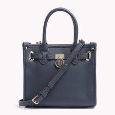 Blue Tommy bag #Saffiano #Belted #Mini #Tote #hilfiger