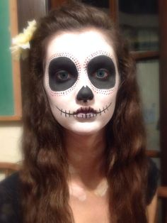Simple Day of the Dead makeup. Halloween 2013