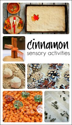 Cinnamon-y fall sensory activities for the kids