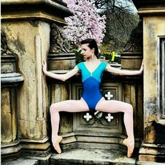 Yumiko leotard in the alica style. Love the blue and green colour combo! All About Dance, Just Dance, Dance Outfits, Ballet Outfits, Sadie Jane, Ballet Clothes, Beautiful Legs, Fashion Studio, Dance Wear