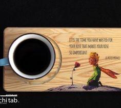 Küçük Prens Hediyelik Ahşap Kahve ve Çay Altlığı