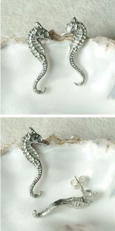 Seahorse Stud Earrings ღ