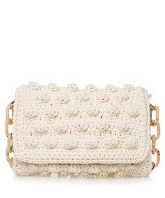 Ivory Bubble Crochet Bag