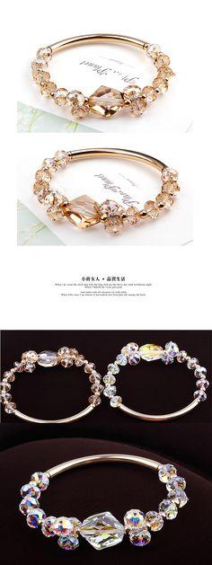 Swarovski elements S925 pure silver crystal bracelets bracelets
