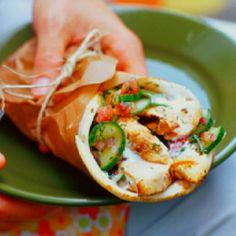 images about Pita wraps Chicken pita, Wraps