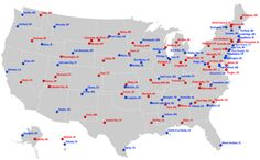 Map: The most liberal and conservative cities in each state