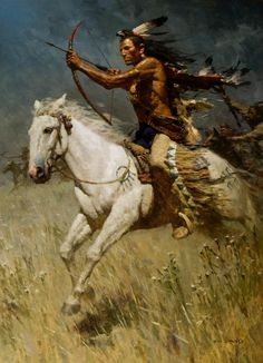 Z S Liang, Great Artist Painter  (Arguably the best light cavalry in the history of the world, the Native American Plains Indians.)