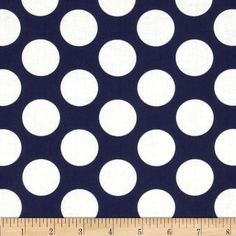 Nursery Fabric: Fabric.com - In the Navy Jumbo Dot White/Navy $9.20
