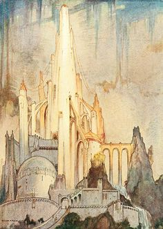 "William Timlin - The Martian Temple (1923) from ""The Ship That Sailed To Mars""."