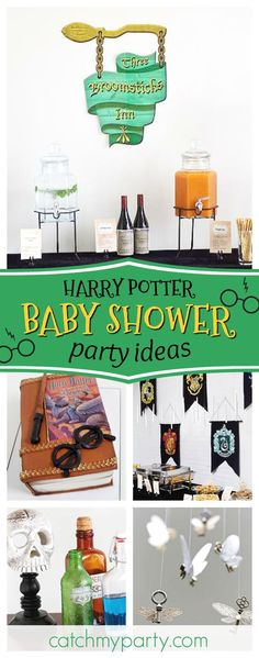 You don't want to miss this awesome Harry Potter inspired baby shower. The decor is fantastic! See more party ideas an dshare yours at CatchMyParty.c… – Baby Shower Fiesta Baby Shower, Baby Shower Niño, Baby Shower Games, Shower Party, Baby Shower Parties, Harry Potter Halloween Costumes, Baby Girl Halloween Costumes, Halloween Party, Harry Potter Fiesta