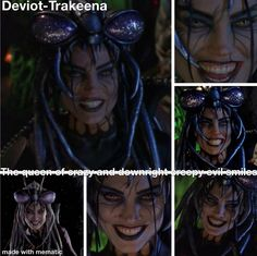 The CREEPY and unnerving smile of Deviot-Trakeena Power Rangers Memes, Japanese Superheroes, Organic Art, Creepy, Hair Styles, Lost, Smile, Queen, Beauty