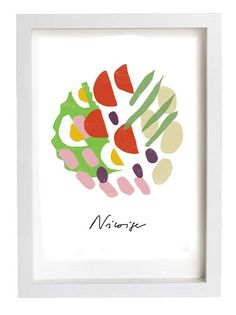 Salade Niçoise print by anek