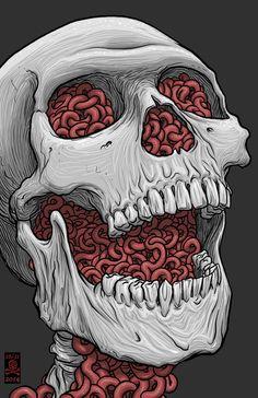 Excellent simple ideas for your inspiration Lips Illustration, Illustration Tumblr, Skeleton Art, Skeleton Drawings, Skull Artwork, Skull Wallpaper, Dope Art, Skull And Bones, Psychedelic Art