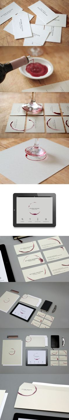 Beautiful idea - red wine stationery.