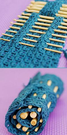 Keeper of Crochet Hooks or Knitting Needles