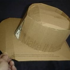 Make Your Own Cardboard Cowboy Hat
