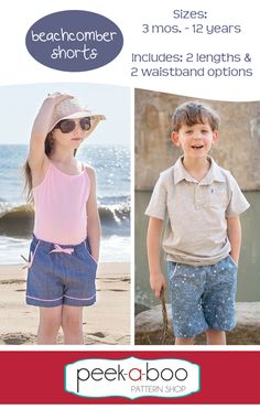 Peek-a-Boo Pattern Shop carries printable sewing patterns for children and adults. It's where fashion meets fun!