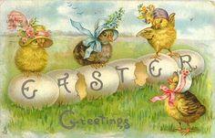 Vintage Easter postcards   you, I did a web search of vintage Easter cards. I find the vintage ...