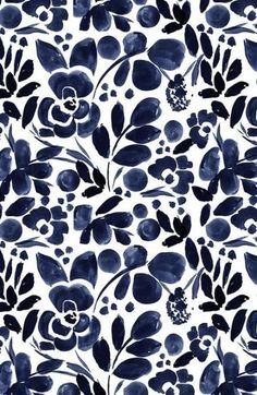 Beautiful hand painted watercolor floral pattern in navy on fabric, wallpaper, and gift wrap. Beautiful hand painted watercolor floral pattern in navy on fabric, wallpaper, and gift wrap. Watercolor Wallpaper, Flower Wallpaper, Watercolor Flowers, Fabric Wallpaper, Painting Flowers, Watercolor Pattern, Floral Watercolor Background, Floral Pattern Wallpaper, Navy Wallpaper