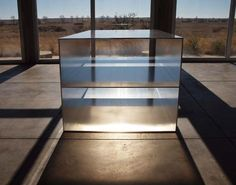 Donald Judd, 100 Untitled Works in Mill Aluminum, Chinati Foundation, Marfa, Texas, photo by Jeff Jahn