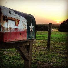 round top, Texas backroad mailbox .. Americana inspiration, taken on hartfield road by amie & Jolie one eve {junk gypsy co}