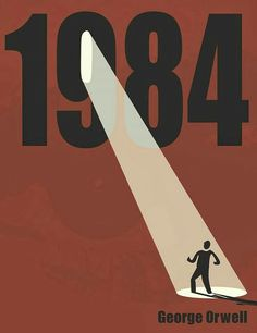 Version 2 - Nineteen Eighty-Four book cover, often published as is a dystopian novel by English author George Orwell published in June Graphic Design Posters, Graphic Design Inspiration, Simple Poster Design, Youtube Cover, Book Design, Design Art, Angst Im Dunkeln, Poster Minimalista, Posters Conception Graphique