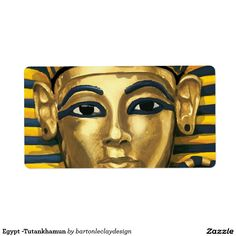 Egypt -Tutankhamun Shipping Label