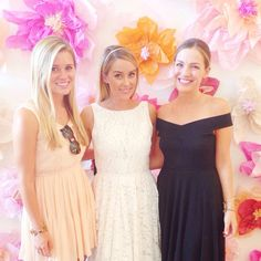 lauren conrad bridal shower ~ paper flower wall backdrop for photos with guests