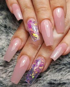 32 Pretty mix and match pink nail art designs - Pink acrylic nail art design #nails