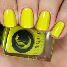 """Cirque Colors: Metropolis Collection - """"Hustle"""" is a retro yellow-toned chartreuse creme"""