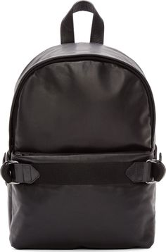 Silent by Damir Doma: Black Leather Aliot Backpack | SSENSE