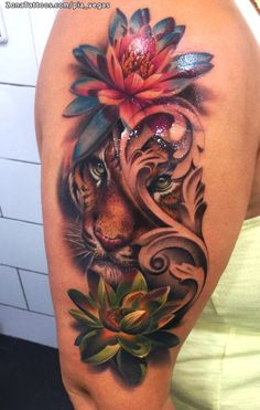 Dope Tattoos, Pretty Tattoos, Girl Tattoos, Tatoos, Tribal Wrist Tattoos, Leo Lion Tattoos, Tatuajes Tattoos, Geometric Tattoos, Tiger Tattoo Thigh