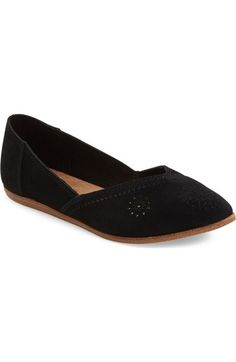 TOMS 'Jutti' Perforated Pointy Toe Flat (Women) available at #Nordstrom