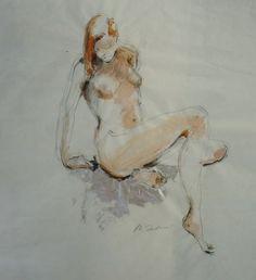 Drawing, woman by Michał Zaborowski