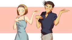 """""""コナンカップルで恋ダンス踊って欲しい… それぞれ着てる服は個人的にお気に入りアニメ回のやつ"""""""