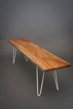 Bronze Sycamore BENCH - LowProfile/Modern/Midcentury. $445.00, via Etsy.