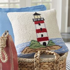 Birch Lane: Farmhouse & Traditional Furniture - Made to Last Traditional Decorative Pillows, Traditional Furniture, Rug Hooking Designs, Rug Hooking Patterns, Crochet Cushions, Crochet Motif, Tambour Beading, Punch Needle Patterns, Cushion Fabric