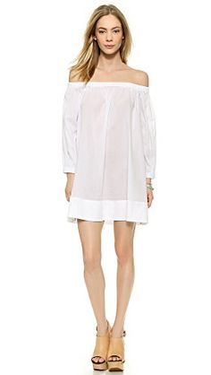 Cynthia Rowley Cotton Voile Peasant Dress - love this off-the-shoulder dress. It reminds me of Brigitte Bardot.