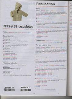 """""""Phildar Naissance n°25"""" Aig. 4 et 5, 10cm: 14m et 23rgs"""