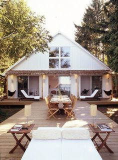 Lake House Furniture and Decor . 24 Inspirational Lake House Furniture and Decor . Lake House Bedroom Paint Color Ideas Furniture & Decor Ideas Setting for Four Outdoor Rooms, Outdoor Living, Outdoor Life, Exterior Design, Interior And Exterior, Modern Exterior, Living Haus, Living Rooms, Haus Am See