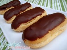 Chocolate Eclairs.....AMAZING!!! everyone loves these. I am trying it with different fillings.... yum
