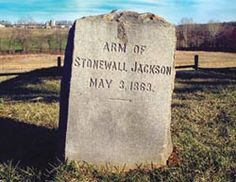 One arm grave of Stonewall Jackson near Chancellorville, Virginia