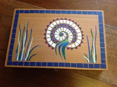 Upcycled box Mosaics, Upcycle, Boxes, Paper, Frame, Cards, Home Decor, Picture Frame, Crates