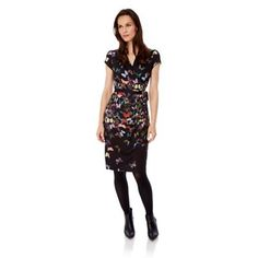 Adrianna Papell Womens Trailing Blossoms Embroidered High-Low Fit and Flare Dress Midi Skirt Casual, Dress Outfits, Fashion Outfits, Fashion Ideas, Women's Fashion, 1940s Dresses, Swing Skirt, Vintage Style Outfits, Flare Dress