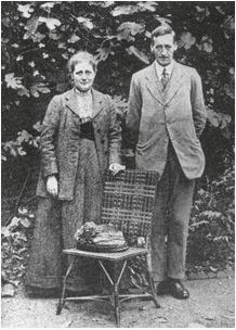 Vintage author: Beatrix Potter and William Heelis on their wedding day, circa 1913