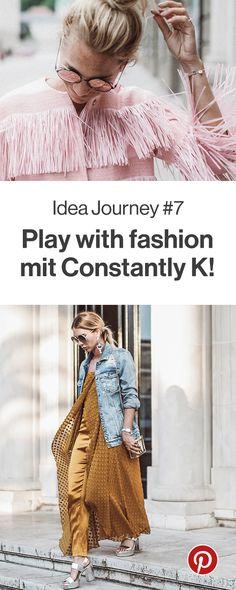 """Tolle Kombinationen und ausgefallene Styles präsentiert euch Karin von Constantly K im nächsten Monat unserer Idea Journey. Im Juli dreht sich alles um das Thema """"Play with fashion"""". Also seid dabei und lasst euch inspirieren."""