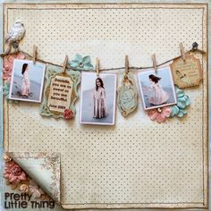 scrapbooking-Love the corner flap showing the 2nd side of paper and the flower!