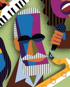 Sonny Rollins by David Cowles (caricature) http://masterpaintingnow.com/how-to-draw-everything?hop=dunway